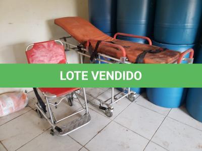 LOTE 006 - MACA RETRÁTIL PARA AMBULÂNCIA E CADEIRA DE RESGATE